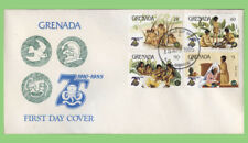Grenada 1985 Scouts Issue set on First Day Cover