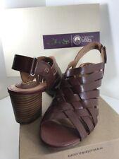 Clarks Ralene Luster Womens Heeled Slingback Sandals  Leather Sz 8 New Dark Tan