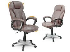 Bürostuhl Chefsessel Drehstuhl Schreibtischstuhl Kunstleder Eago EG-222  braun