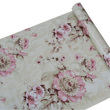 Vintage Flower Wallpaper Roll Decor Self Adhesive Contact Paper Shelf Liner