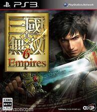 Used PS3 Shin Sangoku Musou 6 Empires SONY PLAYSTATION 3 JAPAN JAPANESE IMPORT