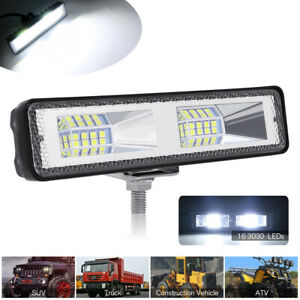 White LED Work Light Motorcycle Car Truck offRoad DRL Driving Spot Lamp SUV UTV