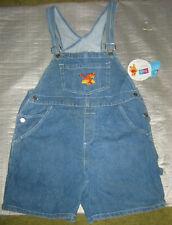 Disney Winnie The Pooh & Tigger Denim Jeans Overalls Shorts MEDIUM Embroidered