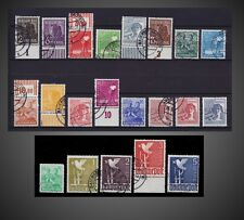 1947 - 1948 GERMANY ALLIED OCCUPATION DEFINITIVE ISSUE USED SCOTT -  557 - 577