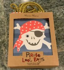 Meri Meri  Pirate Party Bags Set of eight New in Package