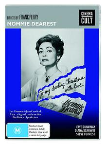 BRAND NEW Mommie Dearest (DVD, 1981) R4 Movie Faye Dunaway
