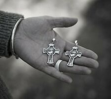 Solid 925 Sterling Silver Jesus INRI Cross - Jesus Christ Religious Pendant