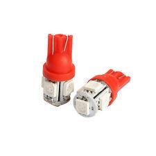 2pcs T10 5SMD-5050 Red LED Car Wedge Tail Backup Side Light Lamp Bulb 12V
