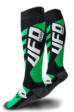 UFO Motocross Enduro Pro Running Socks Long Black Green EU40 - EU42 Medium