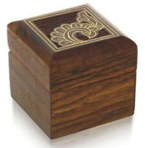 Wooden Jewelry Box for Indian Wood Trinket Box Perfect for Rings, Earrings Gifts