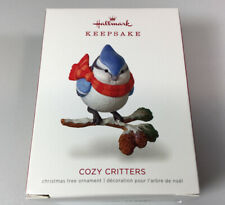 Hallmark 2018 Cozy Critters Blue Jay Bird Keepsake Ornament 2nd in Series