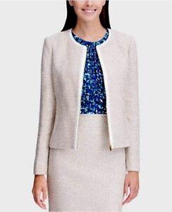 Calvin Klein Petite Tweed Zip-Up Jacket MSRP $149 Size 8P # 5A 348 Blm