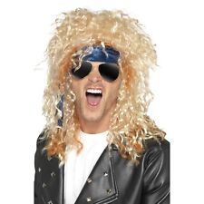 Men's Bon Jovi Rocker Kit Sunglasses Wig Bandana 90s Music Rockstar Heavy Metal