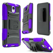 Hybrid Armor Shockproof Case For Samsung Galaxy Note 3 Holster Stand C