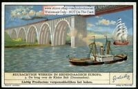 Small Belt Bridge Denmark 70 Year Old Trade Ad Card