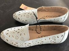 Rivers Supersoft Size 41 Leather Lined Pale Blue Fashion Flats