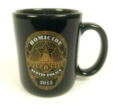 Austin Texas Police Homicide Coffee Mug 1863 2013 150th Commemoration Cup Black