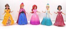 Polly Pockets Disney Magiclip Princess Lot 5 Some Glitter Belle Elsa Anna Ariel