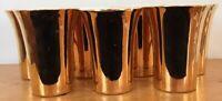 Set of 7 Vintage Hall Pottery Gold Tone 343 Porcelain Mugs Restaurant Diner Ware