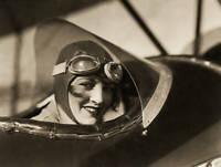 OLD LARGE PHOTO of Ruth Elder American Female Aviation Pioneer c1920s 1