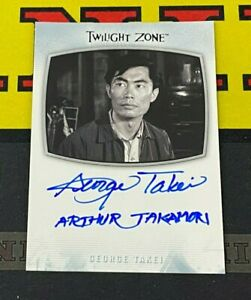 Twilight Zone - Archives 2020 AI-21 George Takei Inscription Autograph!