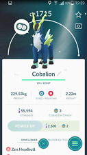 Pokemon Go Account with Shiny Cobalion tradable