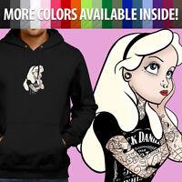 Disney Alice in Wonderland Punk Hipster Goth Pullover Sweatshirt Hoodie Sweater