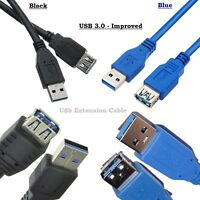 USB 3.0 Standard Male To Female Extension Cable Lead For PC Laptop 1M/1.5/2M/3M
