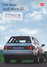 Audi avant s2 folleto 1993 auto folleto 1/93 auto folleto brochure Prospectus