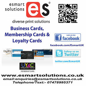 Business & Membership Card Printing Service X 1000 Full Colour Cards