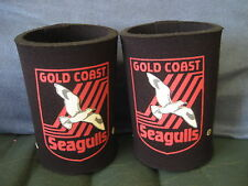 ARL GOLD COAST SEAGULLS Can or Stubby holders x 2. 1990's NSWRL -NEW!