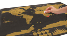 Scratch Off World Poster Journal Map Personalized Travel Atlas Decor Gift