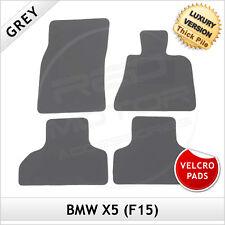 BMW X5 F15 2013 onwards Velcro Pads Tailored LUXURY 1300g Carpet Floor Mats GREY