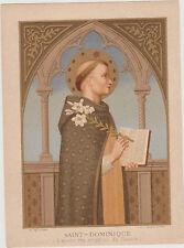 GRANDE IMAGE PIEUSE HOLY CARD SANTINI-10.5X14.5CM-SAINT-DOMINIQUE-(Fra Angelico)