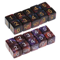 20 Pieces 6 Sided Dice D6 Polyhedral Dice for Dungeons & Dragons Table Games