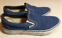 Vans Off The Wall Canvas Slip On Blue Size 9.5