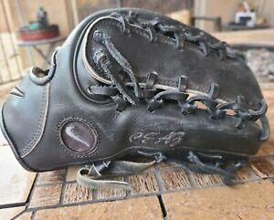 Nike Pro Gold Tradition MLB Game Worn Baseball Glove Black 11.75 VGUC
