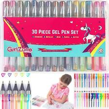 Girlzone Gifts Girls: 30 Piece Gel Pens Set, Ideal Arts  Crafts Gift, Coloring