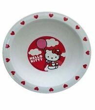 NEW Original Kids Hello Kitty Microwaveable Bowl Anti slip Base BPA free Cutlery