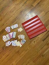 Classroom Red Pocket Chart Scheduler 5 Pockets - 2 Sided Homeschool Supplies