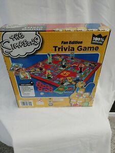 THE SIMPSONS Trivia Game Fan Edition WOO HOO! 25 Years Complete Board game
