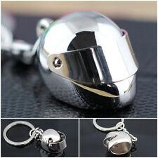 1PC UK SELLER Car Motor Bike Crash Helmet Key Fob Keyring Keychain -Silver