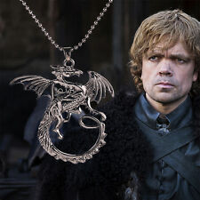 Hot Game Of Thrones Retro Black Targaryen Dragon Chain Pendant Necklace Jewelry