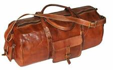 Tourist Leather Overnight Bag Travel Duffle Gym  Weekend Vintage Genuine Luggage