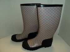 Vineyard Vines Pink/Blue Whales Women's Rain Boots Size 6, Pre-Owned, Free Ship