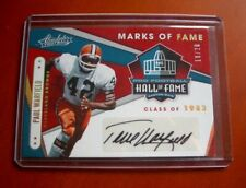 PAUL WARFIELD Cleveland Browns Autographed 2019 Panini Absolute Football Card