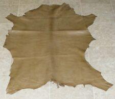 (QYE8581) Hide of Green Brown Lambskin Leather Hide Skin