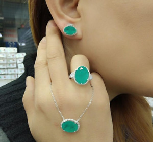 AAA QUALITY STERLING 925 SILVER LADY JEWELRY - PARAIBA TOURMALINE FULL SET