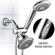 3 Way Shower Combo Setting Luxury Handheld Head Ultra Rainfall New Dual Chrome