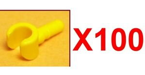 LEGO LOT OF 100 YELLOW HANDS NEW MINIFIGURE HAND TORSO PARTS 50 PAIR